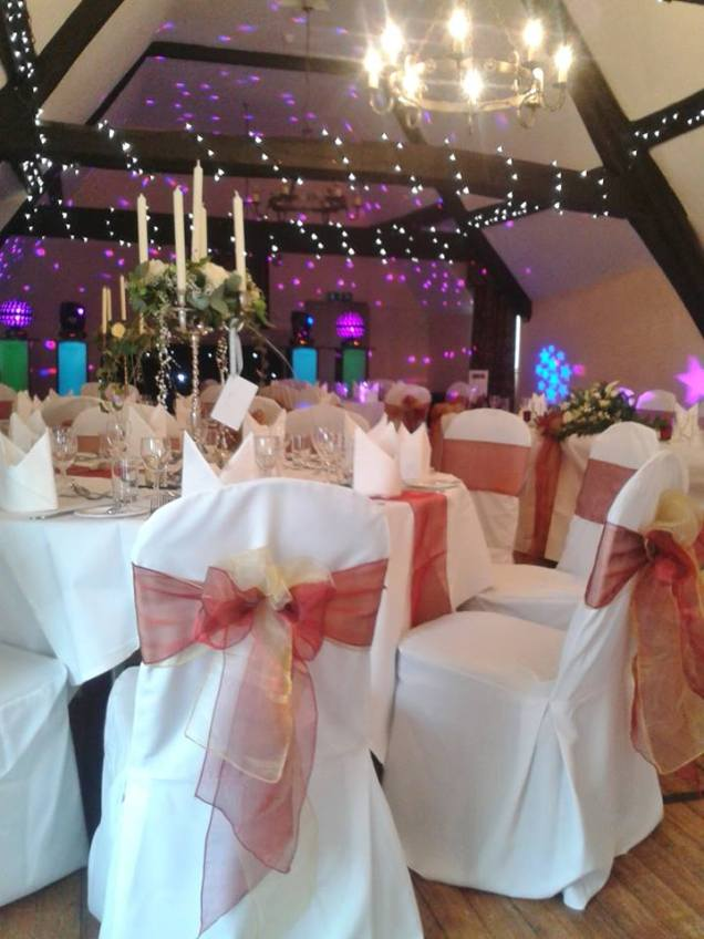 The Westgate Suite - Burgundy and gold organza double bows