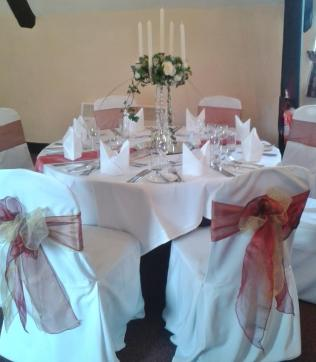 For a dramatic effect think about using our candelabra.