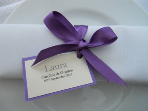 name card  - Purple satin