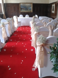 Whitwell Ceremony - Gold taffeta and ivory lace
