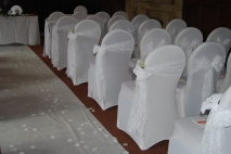 Whitwell Ceremony - White lace
