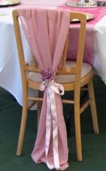 Chiffon chair drape